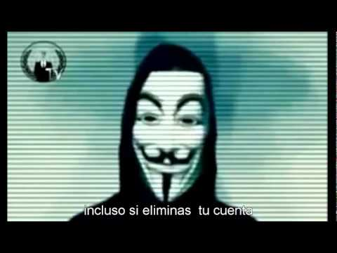 Anonymous amenaza a Facebook (español)