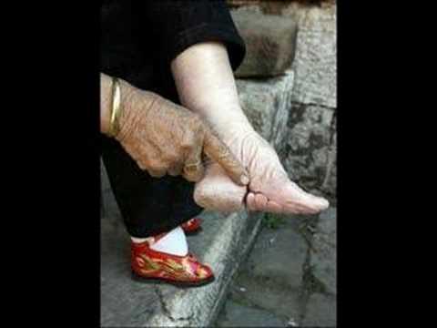 Lotus flower foot bindingunbound chinas last lotus feet in footbinding photos show progress in china worldnews com mightylinksfo