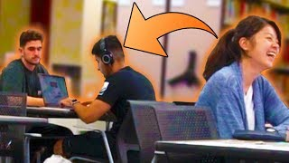 Blasting EMBARRASSING Songs In The Library PRANK!!