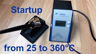 Ersa i-CON PICO soldering station startup (from 25 to 360°C)