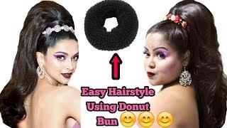 DEEPIKA PADUKONE'S Met Gala Hairstyle 2019   Deepika Padukone's Hairstyle using Donut Bun