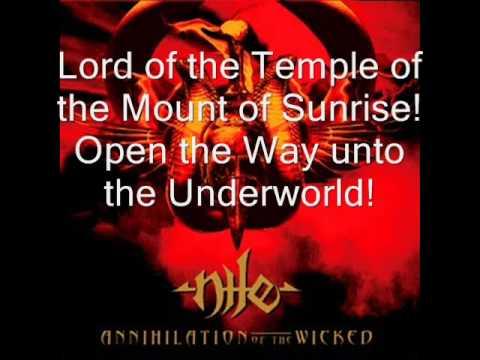 Nile - Sacrifice Unto Sebek (Lyrics)