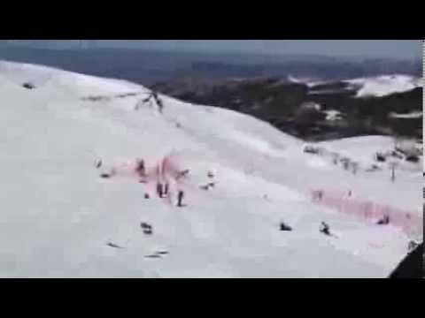 Eva Samkova - WC Sierra Nevada 2013 Crash!