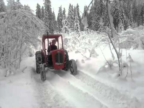 Massey Ferguson 35 pulling log