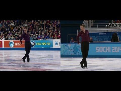Jeremy Abbott - 2014 US Nationals and Sochi - SP (split screen)