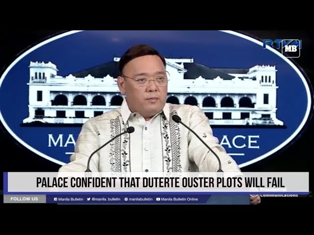 Palace confident that Duterte ouster plots will fail