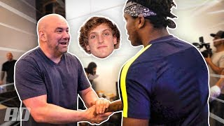 DANA WHITE TALKS ABOUT KSI VS LOGAN PAUL