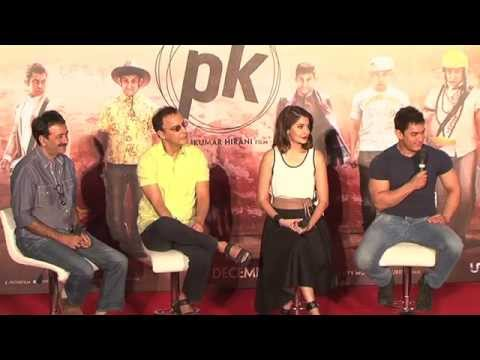 Media Event : Aamir Khan, Anushka Sharma & Team At Teaser Launch | Pk video