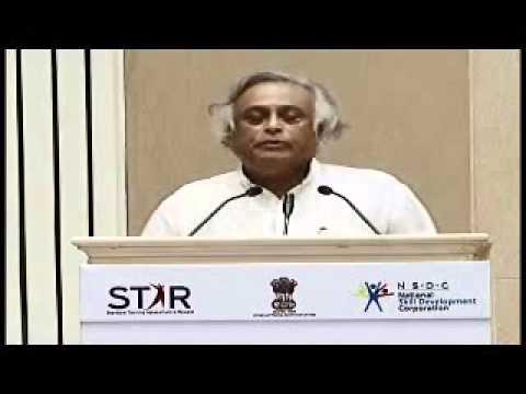 Shri Jairam Ramesh, Minister for Rural Development at the launch of STAR Scheme