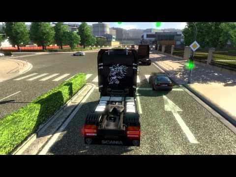 Euro Truck Simulator 2  Scania V8 sound