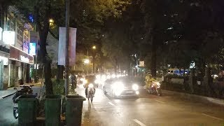 Đường kẹt cứng, CSGT vất vả dẫn đoàn xe chính phủ-VIP was blocked in heavy traffic