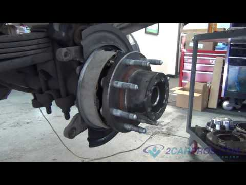 Rear Axle Bearing. Seal. E-Brake shoes. Brake Pads & Rotor Replacement Chevrolet Silverado 2500 HD