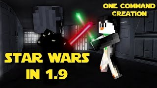 STAR WARS IN 1.9/1.10 | One Command Block Creation: Minecraft