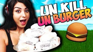 UN KILL ELLE MANGE UN BURGER SUR FORTNITE