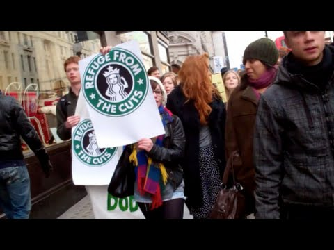 Starbucks Tax Protest London