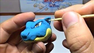 Como hacer a BLASTOISE con plastilina. How to Make POKEMON BLASTOISE in clay - DIBUJAME UN