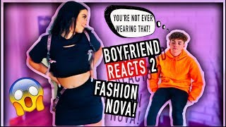 FASHION NOVA TRY ON HAUL *Over Protective Boyfriend Reacts To Outfits