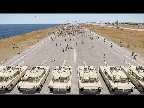 10 Usa Tanks Vs Massive Zombie Hordes - Arma 3 (zombies & Demons)