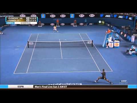 Djokovic vs. Ferrer - Australian open 2013 SF. Highlights (HD)
