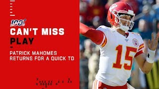 Patrick Mahomes Returns w/ a QUICK Chiefs Score