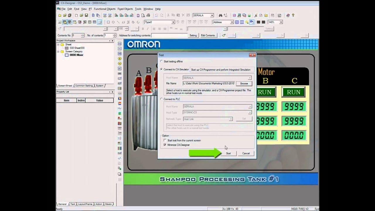 Cx Simulator Simulating Plc Amp Hmi Operation Using Cx One