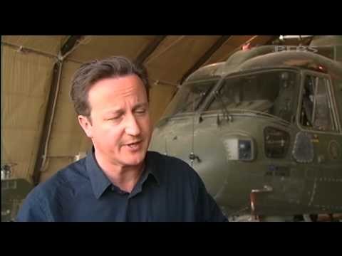 David Cameron visits troops in Bastion 18.07.12