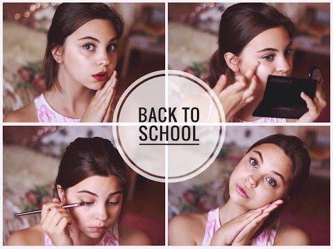 BACK TO SCHOOL : МАКИЯЖ (  для учёбы + вечерний )