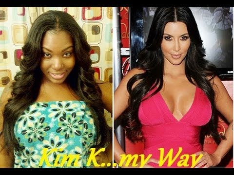 How to: Kim Kardashian sew in U-part wig