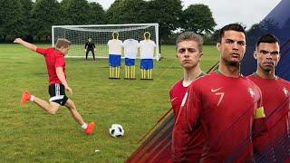 Ronaldo HAT-TRICK vs Spain Challenge | Ronaldo's Road To The World Cup - EP. 3