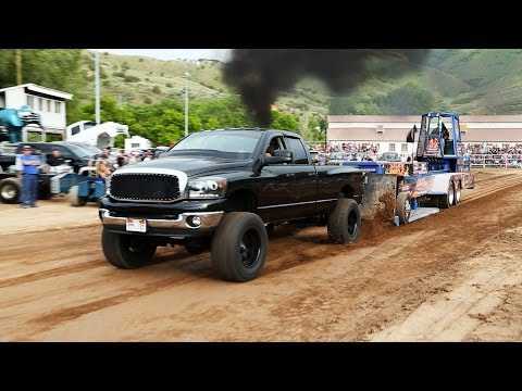 Truck pull presented by United Truck and Tractor Pullers at the Morgan County Fair Grounds in Morgan, Utah on Saturday, June 15, 2013. Part of the Edge Pulli...