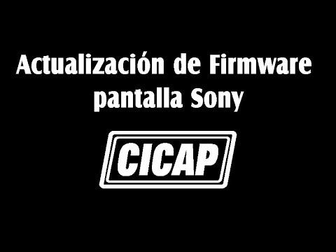 Actualización de Firmware pantalla Sony