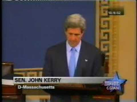 John Kerry (war with Iraq) part 1 of 2