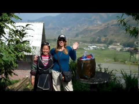 Erin and Hmong Guide Yia in Sapa, Vietnam