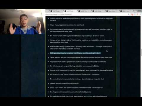 GWD Sets Money Making Method In Here! Runescape Patch Notes!