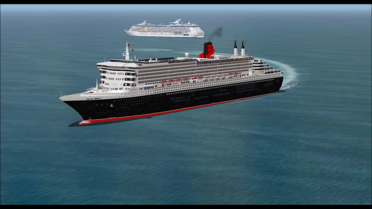 MEETING OF TWO LARGE CRUISE SHIPS QUEEN MARY 2 AND FREEDOM OF THE ...