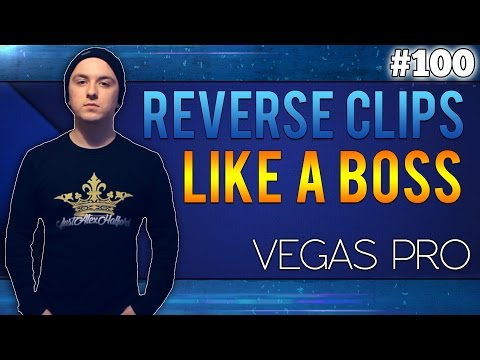 Sony Vegas Pro 13: How To Reverse Clips - Tutorial #100