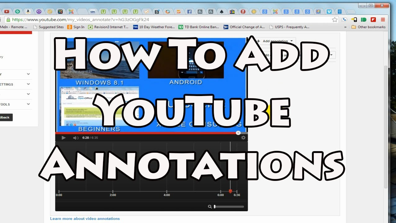 how to add annotoations to youtube videos
