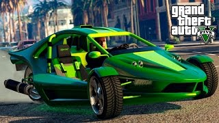 LIVE GTA V On-line - DLC Bikers + Tuning Triciclo Invertido!