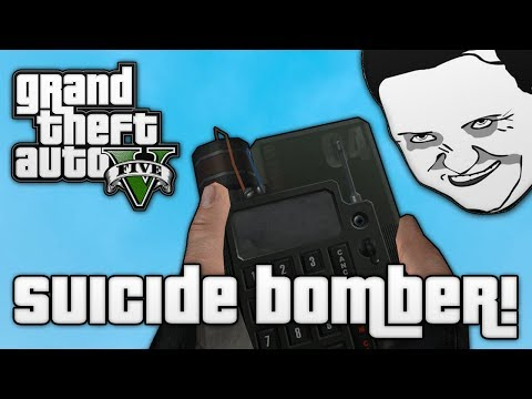 GTA V: SUICIDE BOMBERS! (GTA 5 Online Funny Moments)
