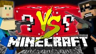Minecraft: RED LUCKY BLOCK CHALLENGE   Flan's Mod Destruction!