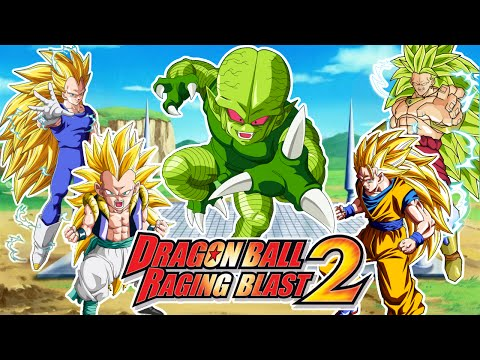 Dragon Ball Raging Blast 2 : Saibaman VS Los Super Saiyans 3 - Gotenks. Vegeta. Goku y Broly