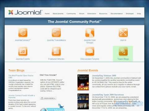 Создаем сайт на Joomla! CMS – Видеоурок