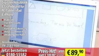 Apen Digitaler Notizblock & Grafikboard für PC, Tablet, iPad & iPhone