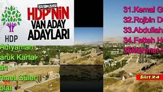 HDP Van Milletvekili Aday Adayları'nın İsimlerini açıkladı