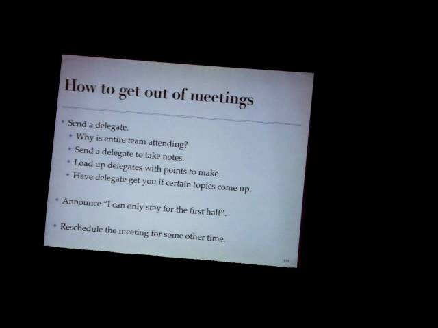 Episode 14: How to get out of meetings