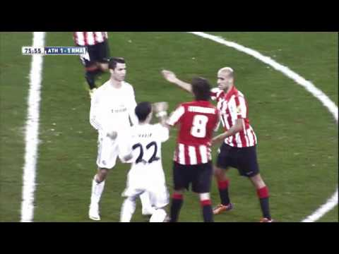 Cristiano Ronaldo Red Card vs Athletic Bilbao~ HD!!!