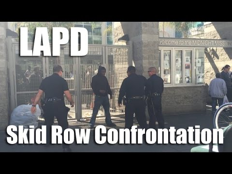 Cops involved in another Skid Row scuffle after man grabs TV news cam