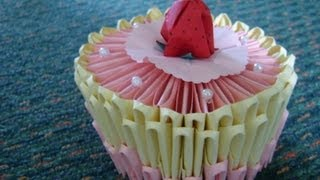 3d Origami: Birthday Cake