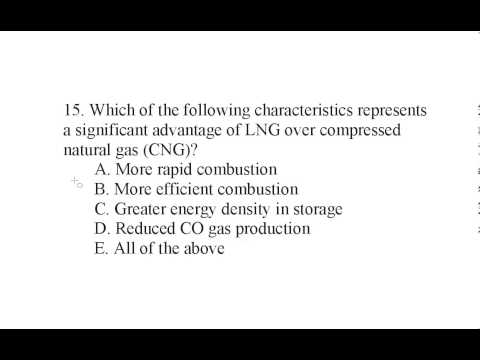 Alternative Energy Exam Q 15