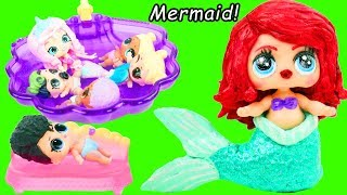 Barbie Shopkins Mermaid Reef Retreat Morning Routine and Opening LOL Surprise Fuzzy Lils
